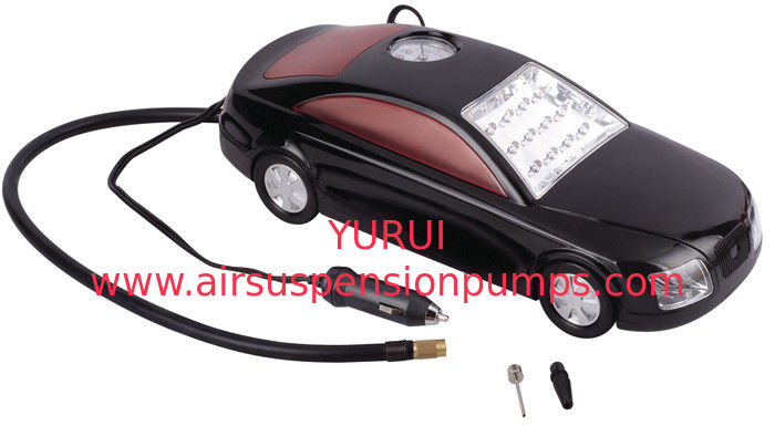 3 in 1 Car Shape Fast Plastic Air Compressor DC12V With LED Light For Tire Inflation