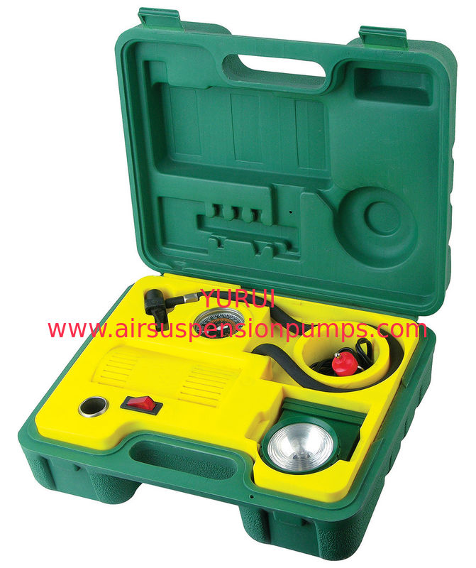 Green And Yellow Air Compressor 3 In 1 Kit Various Function Fast Inflation For the Small Air System