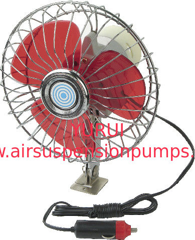 YF207B Red And Silver Chrome Car Cooling Fan12V / 24V For Vehicle