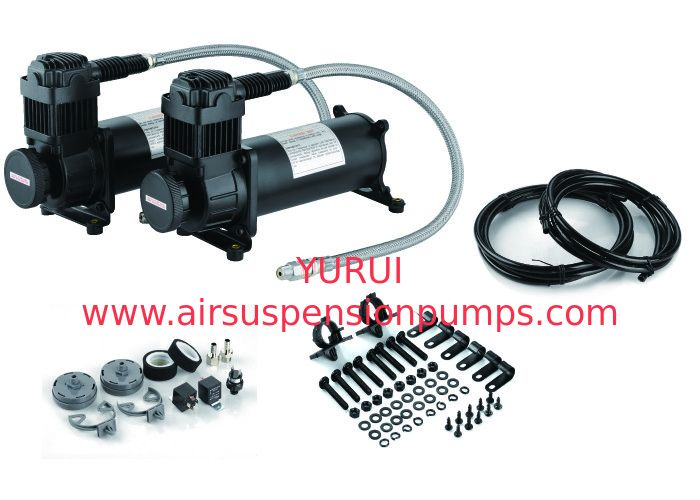 Heavy Duty YF6469R DUAL Pack Air Ride Suspension Compressor Strong Power Fast Inflation