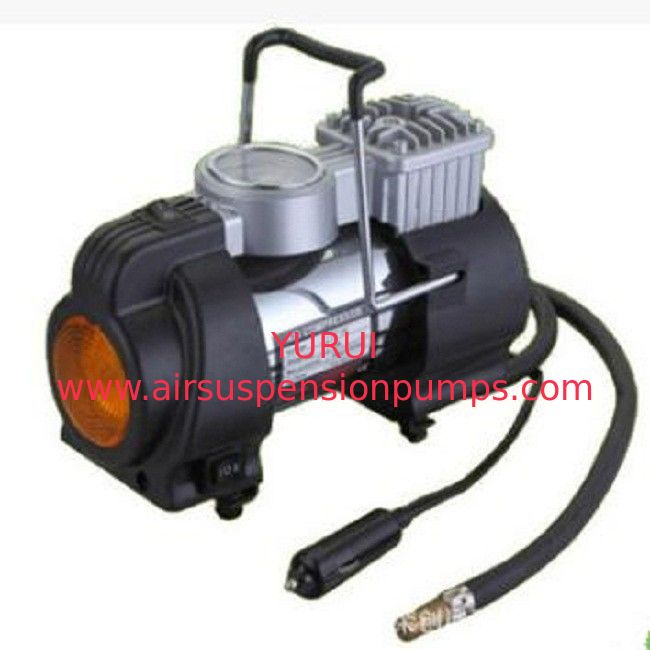 3 In 1 Metal Air Pump , 12v Portable Air Compressor With Lamp
